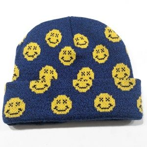 Smiley Face Beanie | Urban Outfitters Toque